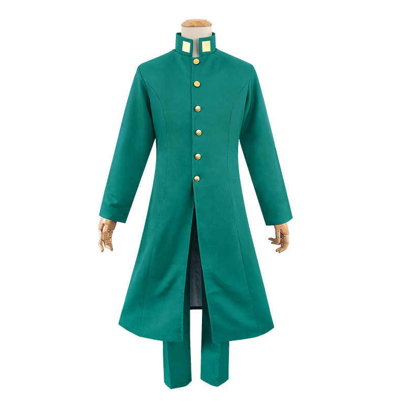 Kujo Jotaro Narancia Ghirga Kakyoin Noriaki déguisement de Cosplay uniforme d'halloween ensemble complet vert