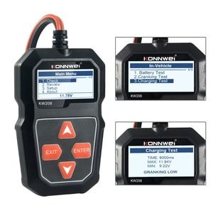 Image 4 - 2021 nowy KW208 Tester akumulatora samochodowego ładowarka analizator 12V 100 2000CCA instalacja ładująca Test