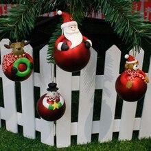 Рождественские украшения, елочный шар, Санта Клаус, снеговик, дерево, игрушка, кукла, подвесные украшения для дома, enfeite De Natal