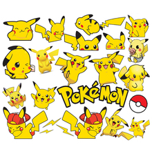 Pokemon Cartoon Stickers Waterproof Vinyl Decal for Laptop Helmet Bicycle Luggage Car gift Children Stickers Toy anime present