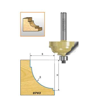Woodworking cnc cutter SHK 1/2 curve shape