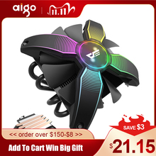 Aigo CPU 쿨러 라디에이터 TDP 120W 히트 싱크 LGA1155/120/1156/1151/AM4 RGB PC 컴퓨터 케이스 팬용 사일런트 2011mm 4 핀 CPU 냉각