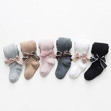 Cotton Tights Pants Legging Bowknot Girls Children Fashion Princess Autumn Solid Menoea