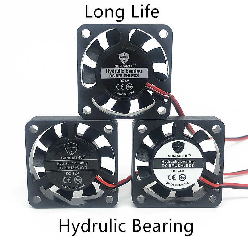 2pcs/lots Fluid Bearing Ball Bearing Oil Bearing DC5V 12V 24V 40mm 4cm 40x40x10mm For 3D Printer Graphics Card Cooling Fan 2pin