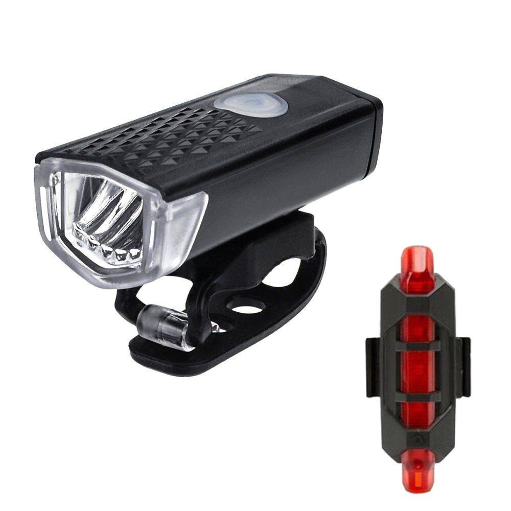 Bike Front Light USB Rechargeable 4 Mode Bicycle Headlight Flashlight Lantern