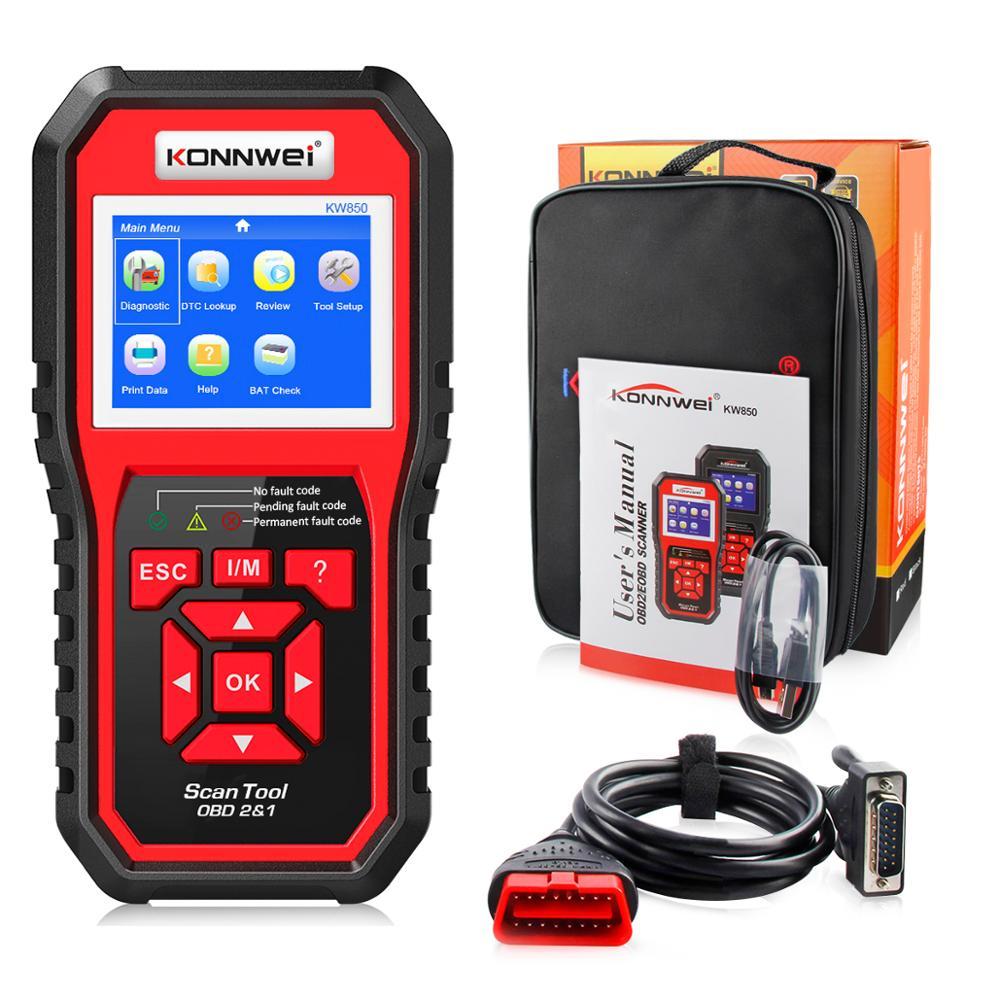 KONNWEI KW850 OBD2 Scanner Automotive Diagnostic Tool Full OBD2 Car Diagnostic Tool Auto Car Code Reader Scanner Programmer