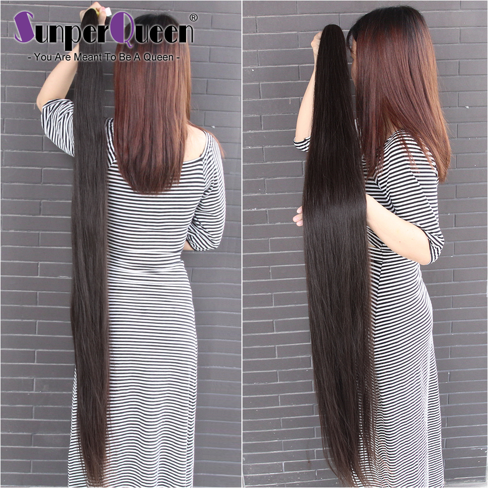 {Sunper Queen} Straight 8-34 36 38 40inch H Brazilian Virgin  Hair Natural Color 100% Human Hair Weaving 3 /4Bundles Deal