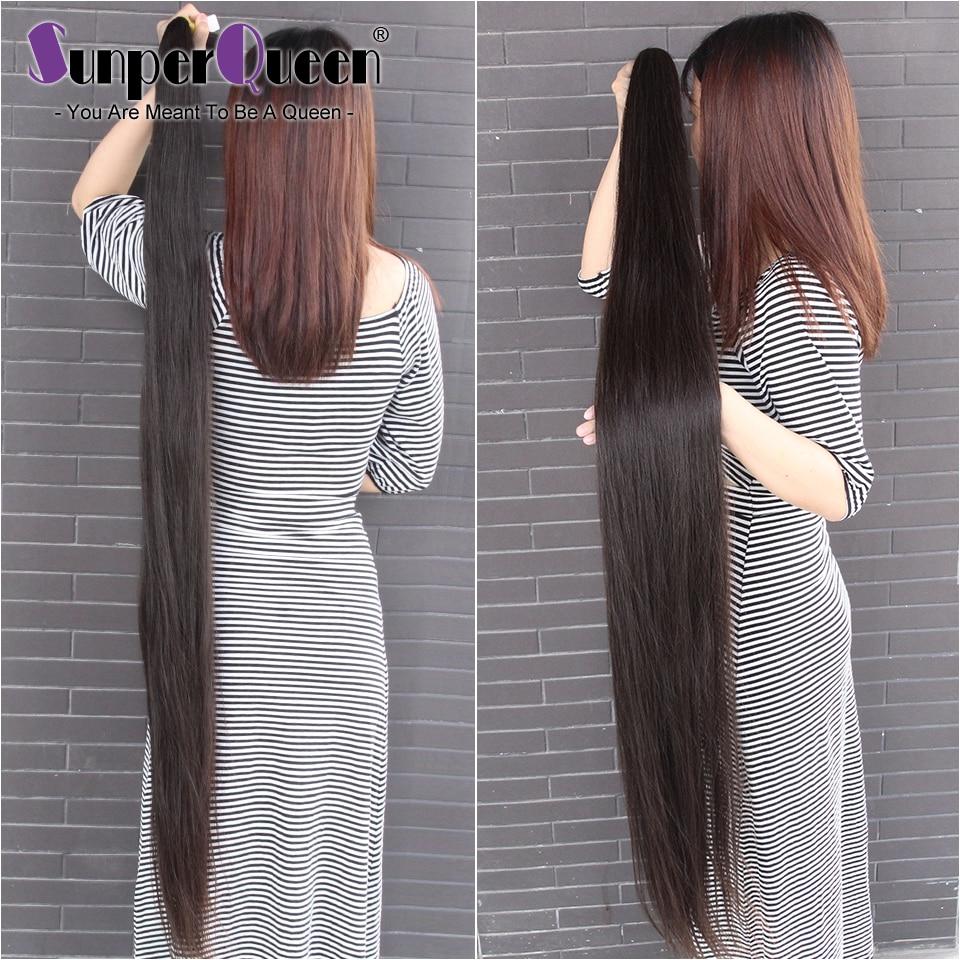 O cabelo reto empacota o cabelo humano reto do osso empacota 30 38 40 polegada pacotes do cabelo do virgin brasileiro tecer extensões do cabelo humano