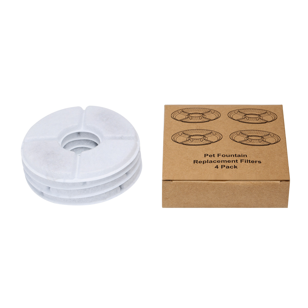 Multifunctional 4pcs/Lot Activated Carbon Filter For Automatic Water Drinking Fountain Cat Dog Kitten Pet Bowl Drink