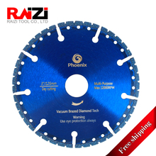 Raizi 4.5-9 inch Vacuum Brazed Cut Blade Multi Purpose Diamond Saw Blades For Firefighters Rescue Teams Police (Free Shipping )