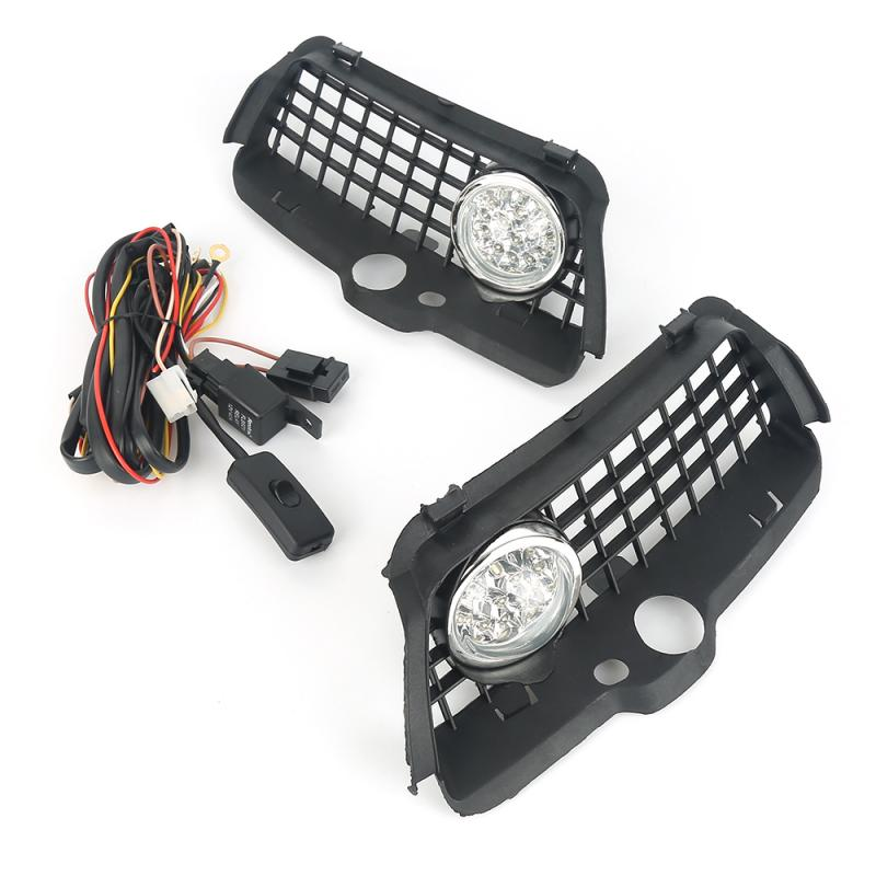 Pro <font><b>Headlight</b></font> External Light Bumper Grille Durable 6000K White LED Driving Fog Light For <font><b>VW</b></font> <font><b>MK3</b></font> <font><b>Golf</b></font> Jetta 92-98 image