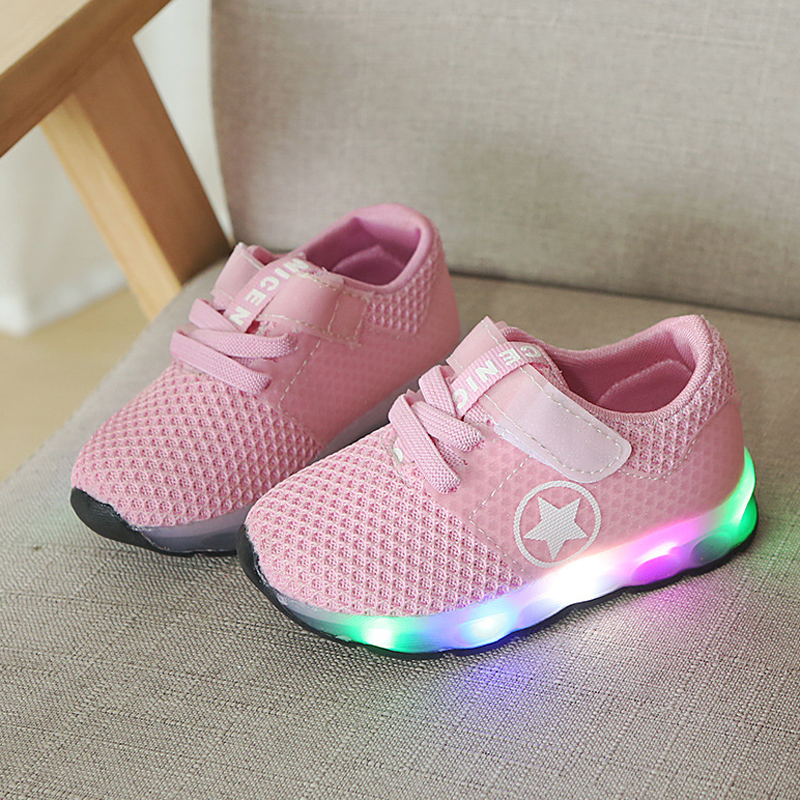 Children Sneakers Shoes With Flash Kids Light Led Girls Shoes