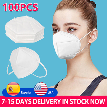 30/50/100 Pcs KN95 Masks 4 Layers Filter Dust Mouth Face Mask Flu Personal Protective Health Care Mask In Stock Fast Shipping