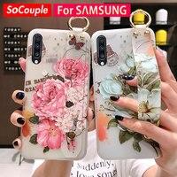 Custodia per telefono SoCouple per Samsung Galaxy S8 S9 S10 S20 plus Ultra A50 s A70 nota 8 9 10 custodia morbida per cinturino da polso in TPU