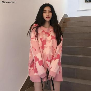 Women's Sweater Harajuku Thick Ulzzang Casual Lazy Wind Loose Sweaters Retro Svitshot Girl Vintage Kawaii Jumper For Women