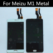 For Meizu M1 Metal LCD Display+Touch Screen+Tools tested Digitizer Glass Lens Assembly Replacement ^ a 30 pin lcd display 7 supra m726g m727g m728g tablet inner tft lcd screen panel lens module glass replacement