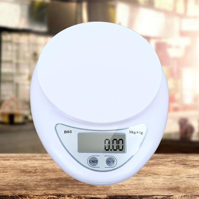 5kg / 1g דיגיטלי נייד LED אלקטרוני בקנה מידה מזון מדידת משקל סוללה מופעל מדידה משקל מטבח גאדג 'ט