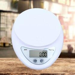 Balance numérique électronique Portable de 5kg / 1g LED pour mesurer les aliments, à piles, Gadget de cuisine