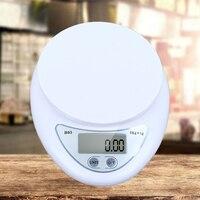 A escala digital portátil de 5kg / 1g conduziu o dispositivo da cozinha do peso da medida a pilhas da medida do alimento da escala eletrônica