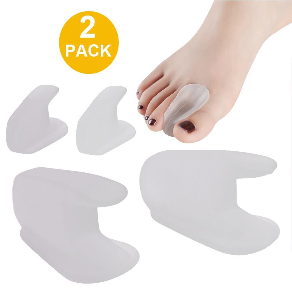 1 Pair Silicone Bone Thumb Orthotics Corrector Hallux Valgus Toe Separator Feet Care Thumb Orthotics Foot Care Tool Plantar