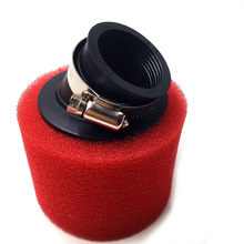 цена на 35mm 38mm 42mm 45mm 48mm Bend Elbow Neck Foam Air Filter Sponge Cleaner Moped Scooter Dirt Pit Bike Motorcycle RED Kayo BSE
