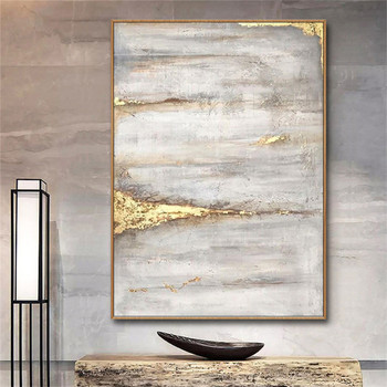Abstract gold Oil Painting 100% Hand painted gold canvas Oil Painting home Decoration wall painting art picture for Living Room