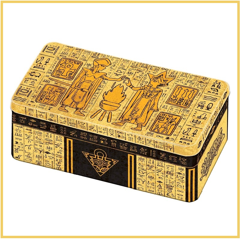 2020 Original MP19 MP20 King Gold Sarcophagus Tin Duel Monsters YU GI OH Game Collection Carte Trading Flash Cards Game With Box