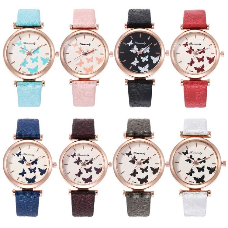 Fashion Belt Series Bracelet Watch Multicolor Fine Surface With Butterfly Ribbon Watch Joker Lady Wrist Watch