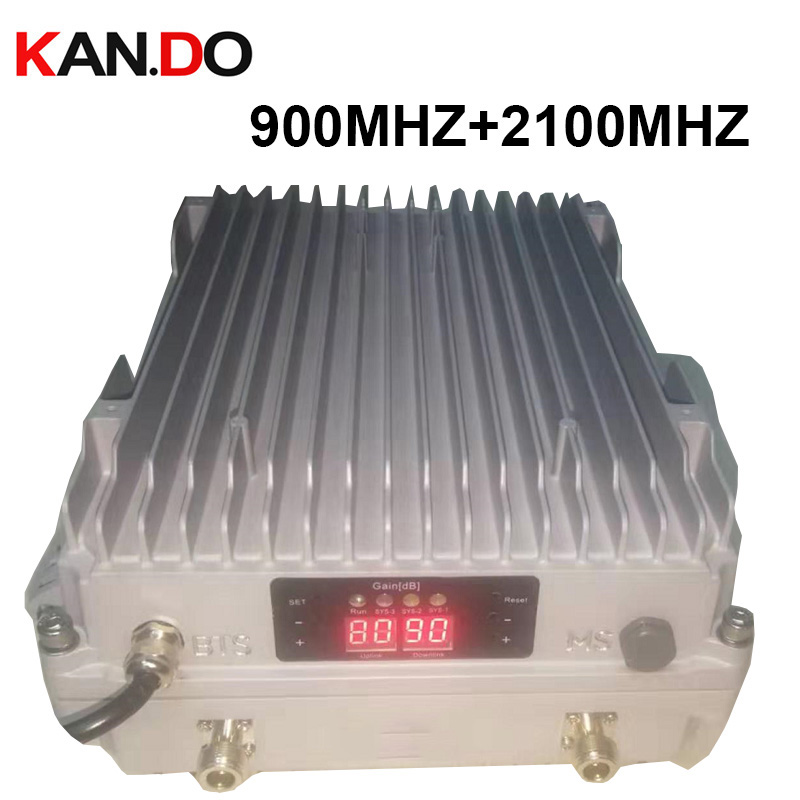 Professional BTS Base Station OUTDOOR Booster 5W Power 2G 3G Booster GSM Repeater 900Mhz Booster+2100Mhz Repeater ODM Booster
