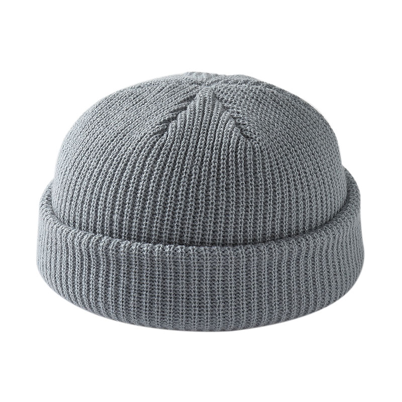 Unisex Winter   Beanies   Men Skullcap Colors Warm Hat Solid Soft Cap Boys Girls Hot Short Melon Knitted Cap Autumn Bonnet   Beanies