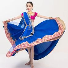 New India Pakistan Sarees For Woman India Lenha Dance Performance Dress Woman Beautiful Embroideried Sets Top+Skirt+Scarf