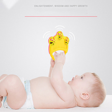 лучшая цена Infant Baby Rattles Mobiles Cute Toys Intelligence Grasping Gums Soft Teether Plastic Hand Bell Educational Gift Training Toy