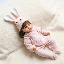 Rabbit Clothes Reborn Dolls 45CM Full Body Silicone Baby Doll Girls Toys Waterproof New Born Dolls Cute Lifelike Bebe Reborn DIY npkcollection reborn gender gril dolls soft real gentle touch full vinyl silicone body bebe toys for kids on christmas