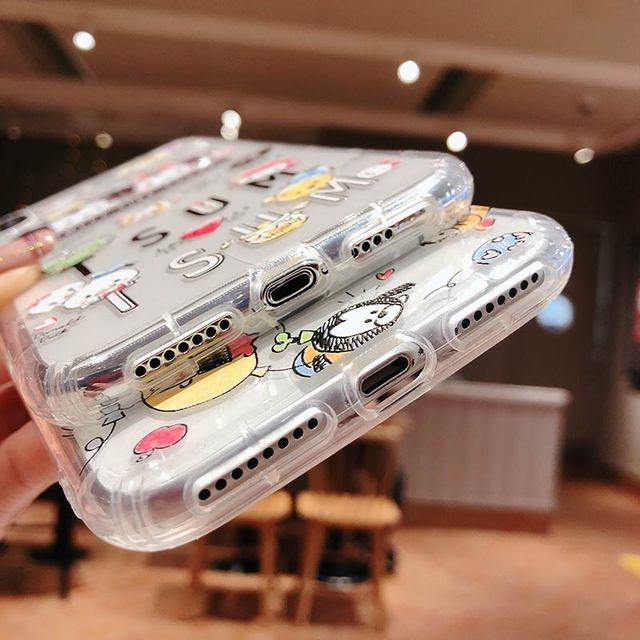 حافظة لهاتف آيفون 11 برو ماكس X Xs ماكس XR 11 8 7 6 Plus حافظة من البولي يوريثان اللطيفة