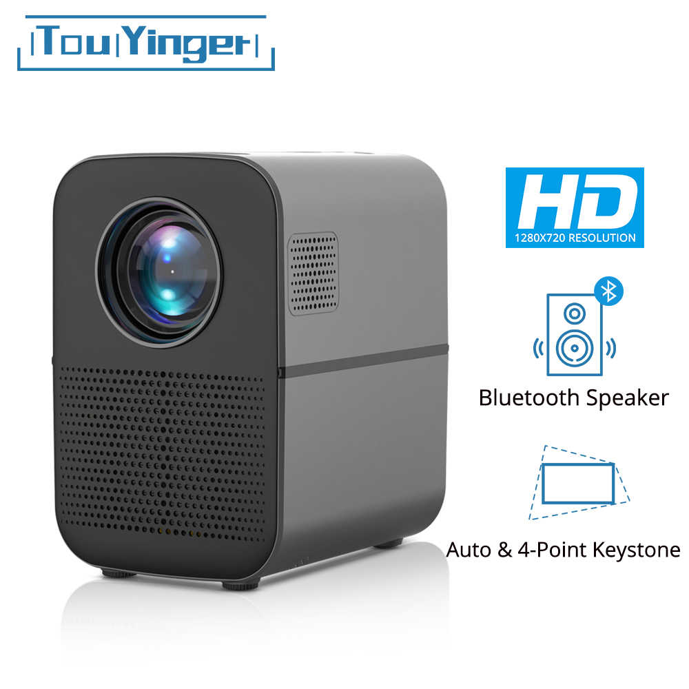 TouYinger T7 HD proyector LED para el hogar Bluetooth 1280x720 Full HD video USB beamer para Cine 4000 lúmenes Android opcional