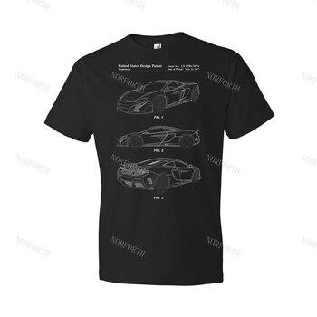 Sports Car Shirt Exotic Car Tee Car Lover Gift 570S Blueprint Car Apparel 1