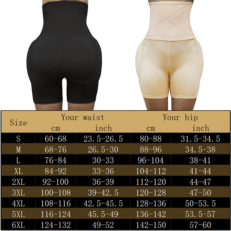 Image 2 - Shaper Butt Lifter Hip Enhancer Hip Pad Padded High Waist Tummy Control Panties Invisible Briefs Fake Ass Buttock Slimming Thigh-in Control Panties from Underwear & Sleepwears