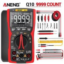 ANENG Q10 cyfrowy multimetr 9999 profesjonalny Tester Multimetro True RMS analogowe DIY tranzystor kondensator NCV testery miernik przebiegu