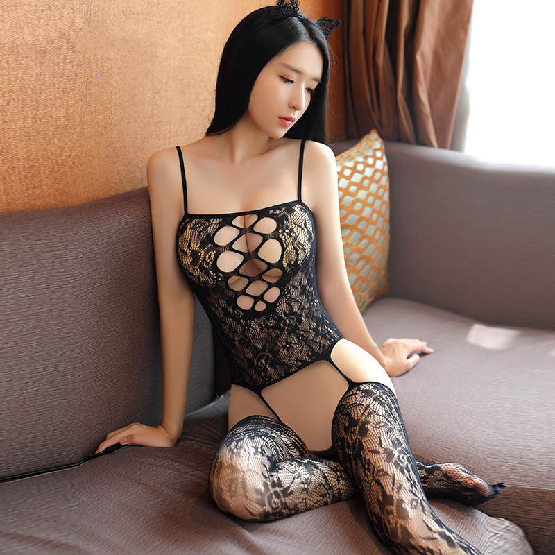 Erotic Women Sexy Lingerie Babydoll Teddies Sex Suit Bodystocking Hot Costume Open Crotch Fishnet Bodysuit Transparent Underwear