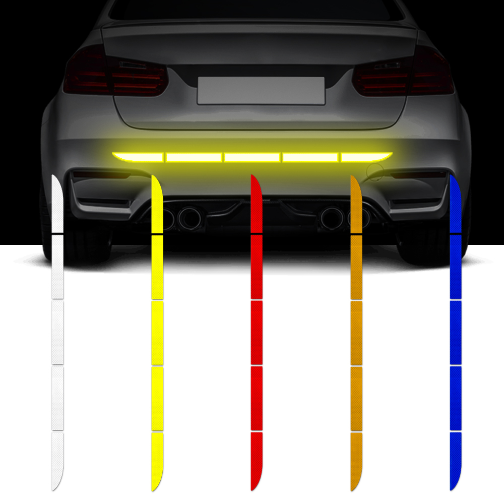 Car Reflective Stickers Auto Trunk Body Traceless Protective Decal Warning Tape Safety Mark Reflective Strips For Lada Grant 4x4