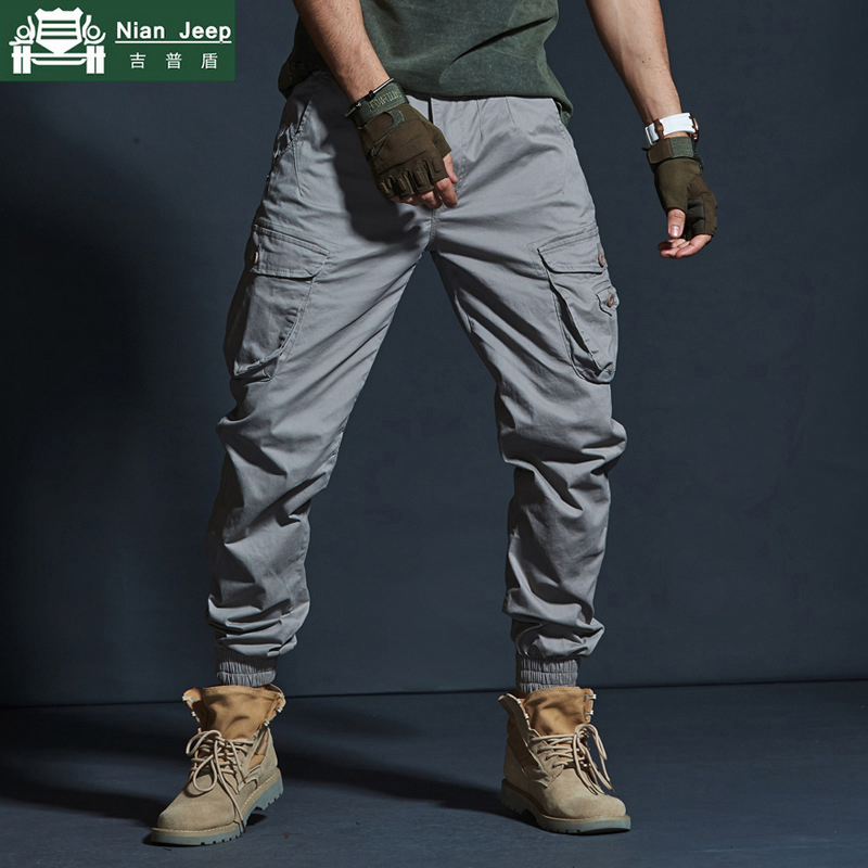 Cargo Pants Men Military Cotton Elasticity Mens Trousers Streetwear Multi-Pocket Camouflage Washed Joggers Casual Pantalon Homme