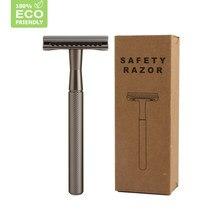 HAWARD Men's Double Edge Safety Razor Classic Shaving Razor Eco-friendly Manual Shaver For Female Hair Removal 20 Shaving Blade