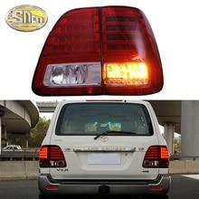 Car LED Tail Light Taillight For Toyota Land Cruiser 100 FJ100 LC100 1998 - 2007 Rear Fog Lamp + Brake + Reverse + Turn Signal for toyota tundra v8 2007 2016 rear 3rd brake cargo led tail light 08 09 black