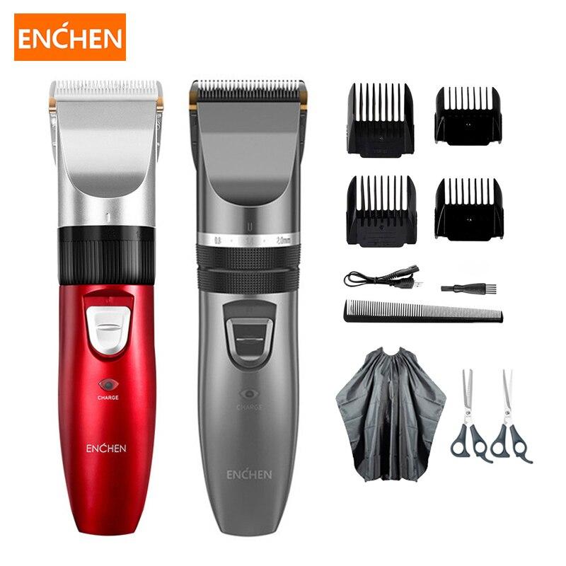 Enchen электрический триммер для волос для мужчин машинка для стрижки взрослых USB перезаряжаемая керамическая режущая головка для стрижки вол...