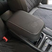 Lsrtw2017 Fiber de Voiture En Cuir Accoudoir Couverture pour Skoda Kodiaq 2016 2017 2018 2019 2020 Gt Boîte De Rangement Protecteur Accessoires Auto