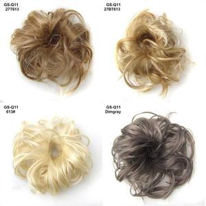 Женские Толстые грязные кудрявые волосы пучок для наращивания Scunchie Updo покрытие шиньон волосы эластичные шиньоны для волос пучки конские хв...