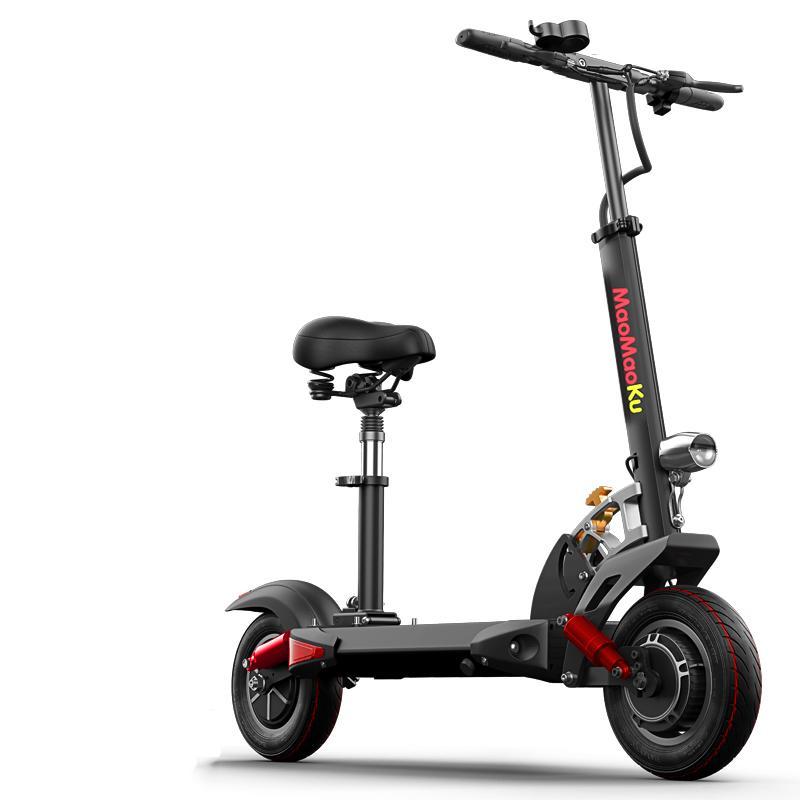 Vélos électriques adultes 2 roues vélos électriques pliable Scooter électrique avec siège 1200W 48V 120KM