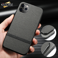 KISSCASE Cloth Striped Case For iPhone 7 Cover 11PRO MAX XS XR 8 7Plus 6 6S For iPhone 11 Cases 8Plus 11PRO 6Plus 7 Phone Covers