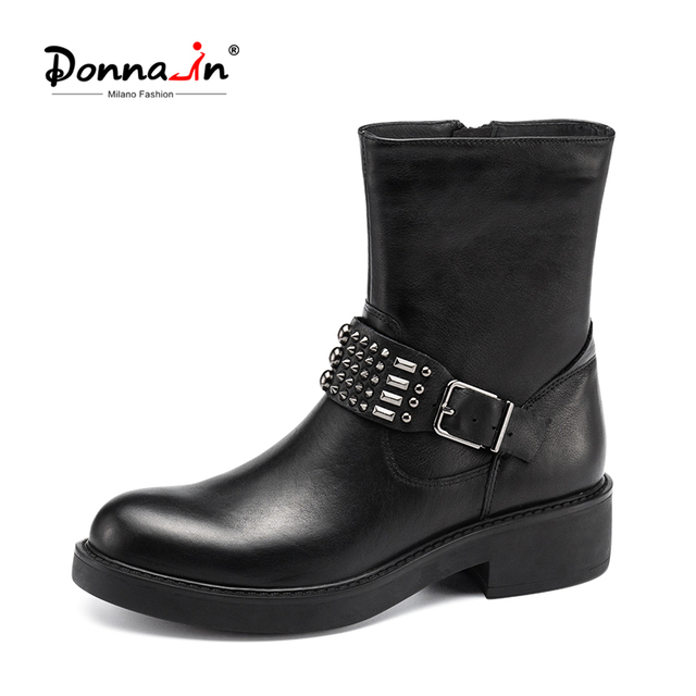 Ladies Fashion Boots DONNA Mid Calf Boot Black