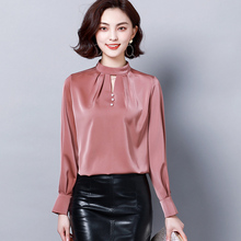 spring Ladies Shirts Fashion Work Office Chiffon Women Shirt Long-sleeve Solid Color Elegant Wild Women Tops and Blouses